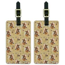 Palamino Horse Selfie Pattern Luggage ID Tags Suitcase Carry-On Cards - Set of 2