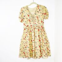 Alannah Hill Women's Size 10 Silk A-Line Floral Dress Fully Lined