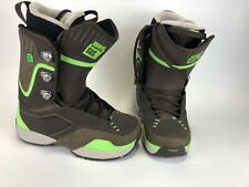 Rome Sds Folsom Snowbo Boots Size 8 Brown/Lime Green In Excellent Condition