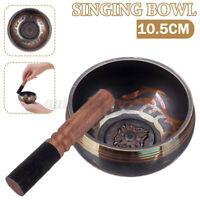 10.5CM Tibetan Singing Bowl+Wooden hammer Chakra Yoga Meditation Relaxation Tool