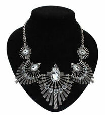Beauty Oval Crystal Costume Necklaces & Pendants