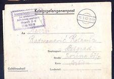 Germany(Serbia), 1943, War prisoner letter from officer prisoner camp OflagXIIIB