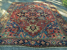ANTIQUE HAND WOVEN PERSIAN  SERAPI RUG 10x12FT FROM C 1900