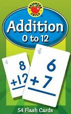Math Addition 0 - 12 Brighter Child New 54 Flash Cards, Age 6+, Develop Thinking