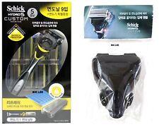 Schick Hydro 5 Custom Refresh 1 Razor Handle  + 9 Cartridges Travel Cover