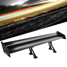 "Megan Race 56"" Adjustable Black Double Deck Aluminum GT Rear Trunk Spoiler Wing"