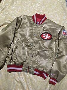 Vintage San Francisco 49ers ProLine Starter Satin Jacket Gold NFL Size XL