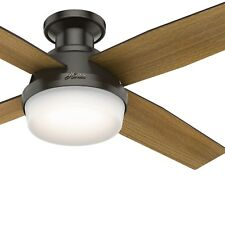 Hunter Fan 52 in. Low Profile Noble Bronze Ceiling Fan with LED Light and Remote