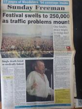 1994 Festival Music Woodstock Joe Cocker Performence Dope