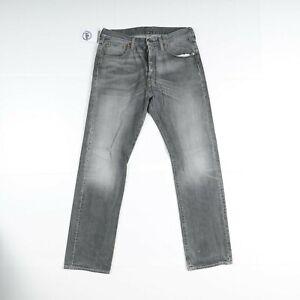 Levi's 501 Usato (Cod.Y2309) W33 L32 jeans Vita Alta Uomo Nero