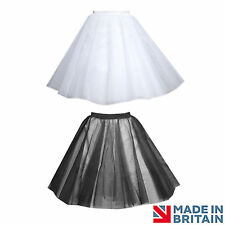 PLUS SIZE ROCK AND ROLL BLACK 4 LAYERS NET SKIRT CIRCLE UNDER SKIRT PETTICOAT