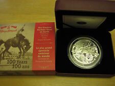 Canada $50 2012 5-ounce fine silver Calgary Stampede Cao And Box
