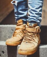 Nike Air Force 1 High LV8 WB Flax Wheat Tan Brown OG UK 9.5 US 10.5 PRM Timbs
