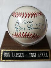 Yogi Berra, Don Larsen Dual Auto Baseball Representing 1956 World Series