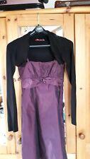 Ballkleid / Festkleid violett Gr. 158 mit Bolero