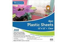 "Plastic Sheet 12x12 .010"" Clear 4pc"
