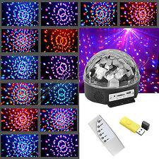 RGB LED MP3 DJ Club Pub Disco Party Music Crystal Magic Ball Stage Effect Light