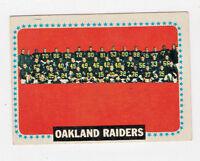 1964 Topps Football Card Oakland Raiders Team #153