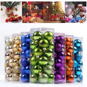 12/24pcs 3cm Small Ball Mini Christmas Baubles Xmas Tree Decoration🔥HangingBall