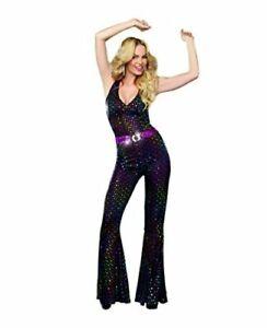 Women's Disco Doll Costume, Black, Medium, Black, Size Medium 9NzJ
