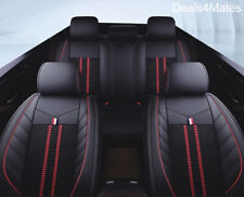 For Renault Dacia Black Fabric & Leatherette Luxury Full Set Car Seat Covers
