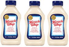 Miracle Whip Dressing, 12 oz Bottles (3 Pack) Exp. 7/2/2020