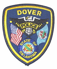 DOVER OKLAHOMA OK Police Sheriff Patch STATE SEAL INDIAN DRUM STATE FLAG ~
