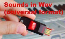 16GB usb sounds in WAV from analog Juno Arp Hammond Virus jd800  60's 70's keys