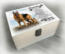 German Shepherd Dog breed, urn / memory box for cremation ashes, any design