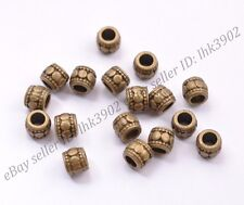 20/50/100Pcs Tibetan Silver Big Hole Spacer Beads for Bracklet 3MM Hole DB3031