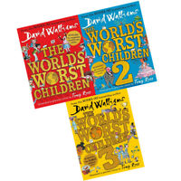 David Walliams World's Worst Children 1-3 Collection 3 Book Set Pack BRAND NEW