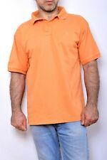 6eb6fa8576a Conte of Florence Mens Short Sleeved Polo Shirt ORANGE Slim FIT L Vintage  90 FAB