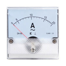 1PC Square Analog Panel AMP Current Meter AC 0-20A Ammeter Gauge DH-80 80*80