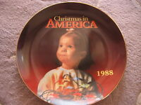 """1988 """"CHRISTMAS IN AMERICA"""" LIMITED EDITION COLLECTOR PLATE, 8 1/2"""" DIAMETER"""