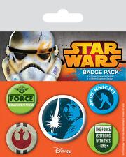 Star Wars Ansteck-buttons 5er-pack Jedi (neu)