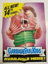 1988 GARBAGE PAIL KIDS - SERIES 14 DEALER PROMO POSTER CLEAN VERY NICE OS14