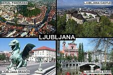 SOUVENIR FRIDGE MAGNET of LJUBLJANA SLOVENIA