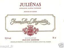 Etiquette de vin - JULIENAS - Jean-Luc Aegerter (169)