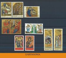GREECE 1970,  1972, 1976, 1978 AND 1987 CHRISTMAS SETS, MNH
