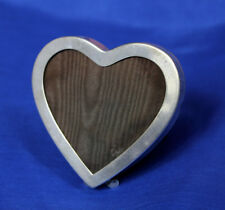 """Nice 2.75"""" Antique Sterling Silver Heart Shaped Picture Frame Photography"""