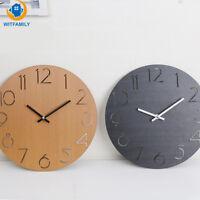 Modern Creative Wall Clock Living Room Round Fashion Minimalist Pine Solid Wood