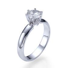 Women 1 CT G SI1 Diamond Engagement Ring 100% Natural