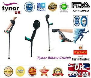 Tynor Adjustable Underarm Forearm Elbow Crutches Walking Stick Ergonomic Design