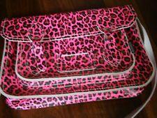 Zatchels Satchel Animal Print Black Hot Pink Uni School Bag Shoulder Bag COA