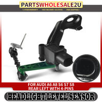 Headlight Level Height Sensor Rear Left LH for Audi A6 A8 S6 S8 4H0941309C 12-17