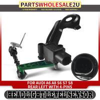 Headlight Level Height Sensor Rear Left LH for Audi A6 A8 S6 S8 4H0941309C 12-17