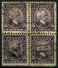 Canada 1927 SG#269, 5c 60th Anniv Of Confederation Used Block Of 4  #D45373