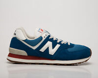New Balance 574 Men's Blue White Athletic Lifestyle Sneakers Casual Shoes
