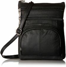 Leather Shoulder Bag Handbag Purse Cross Body Organizer Wallet Multi Pockets