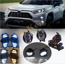 For 2019-20 Toyota RAV4 DRL Daytime running lights LED Bulb Switch Cable kit